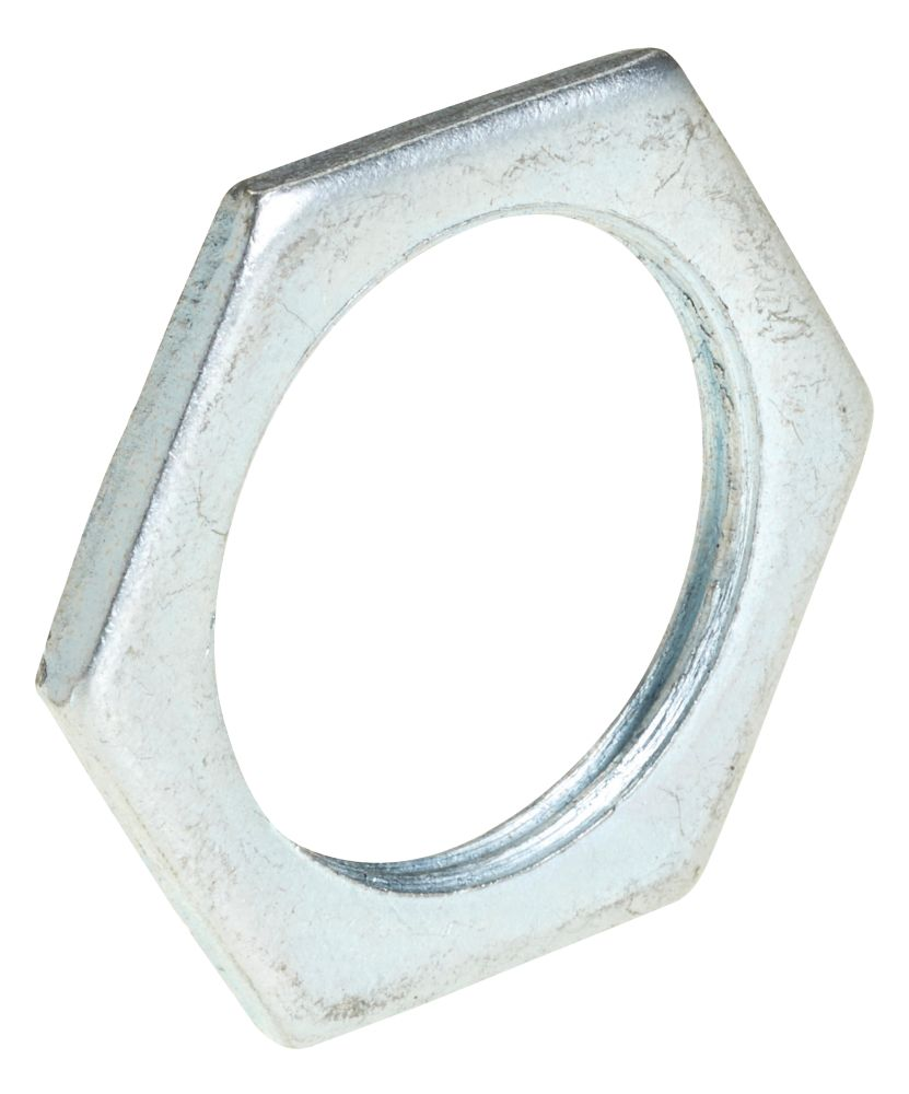 Deta BZP Metal Locknuts 25mm Pack of 10