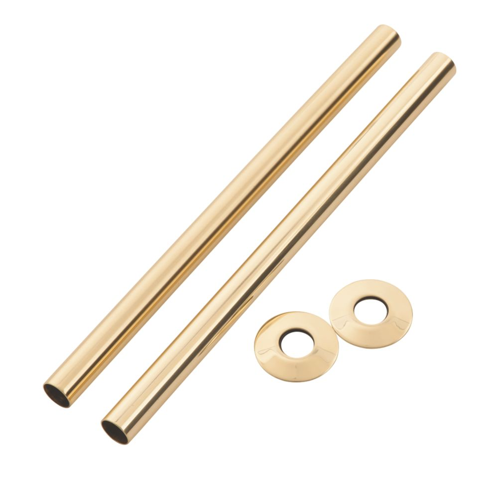 Arroll Pipe Shroud Kit Antique Copper 18 x 300mm 2 Pack