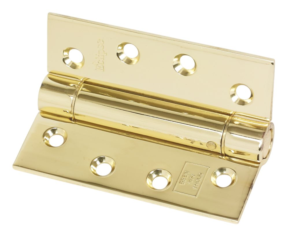 Image of Eclipse Adjustable Self-Closing Hinge Electro Brass 76 x 102mm