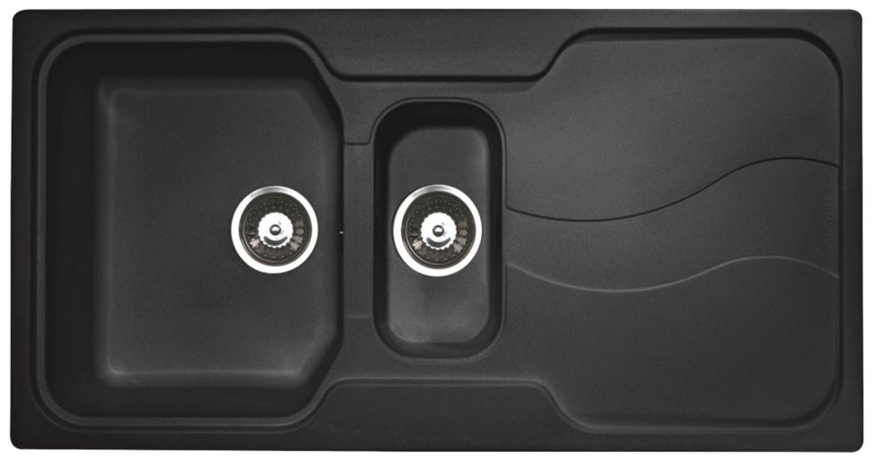 Astracast Square Inset Sink Granite 1½-Bowl Reversible 980 x 510mm