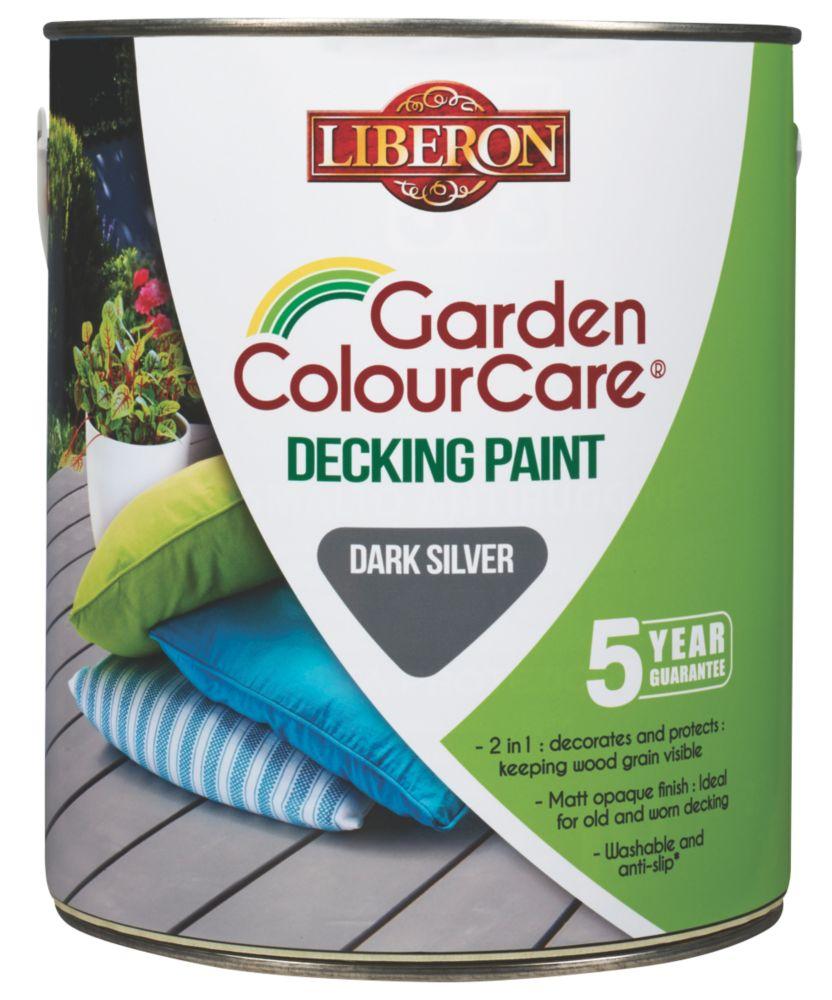 Image of Liberon Decking Paint Dark Silver 2.5Ltr