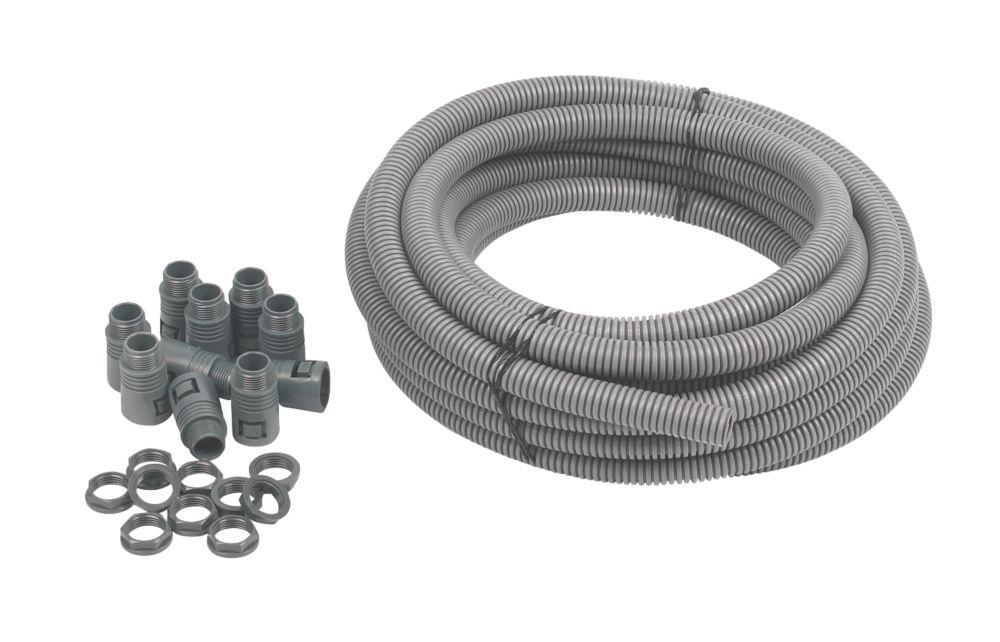 Adaptaflex General Purpose Pack & PVC Pliable Conduit 20mm Grey