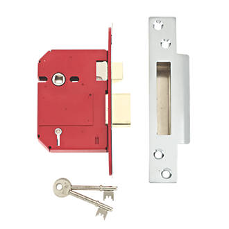 """Union BS 5-Lever Mortice Sashlock Stainless Steel 3"""" / 76mm"""