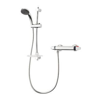Triton Luca Exposed Thermostatic Mixer Shower Flexible Chrome