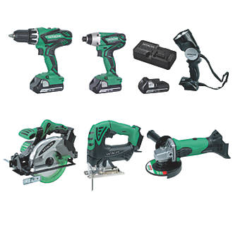 Hitachi KTL618SJJF 18V 2.5Ah Lilon Cordless 6 Piece Kit