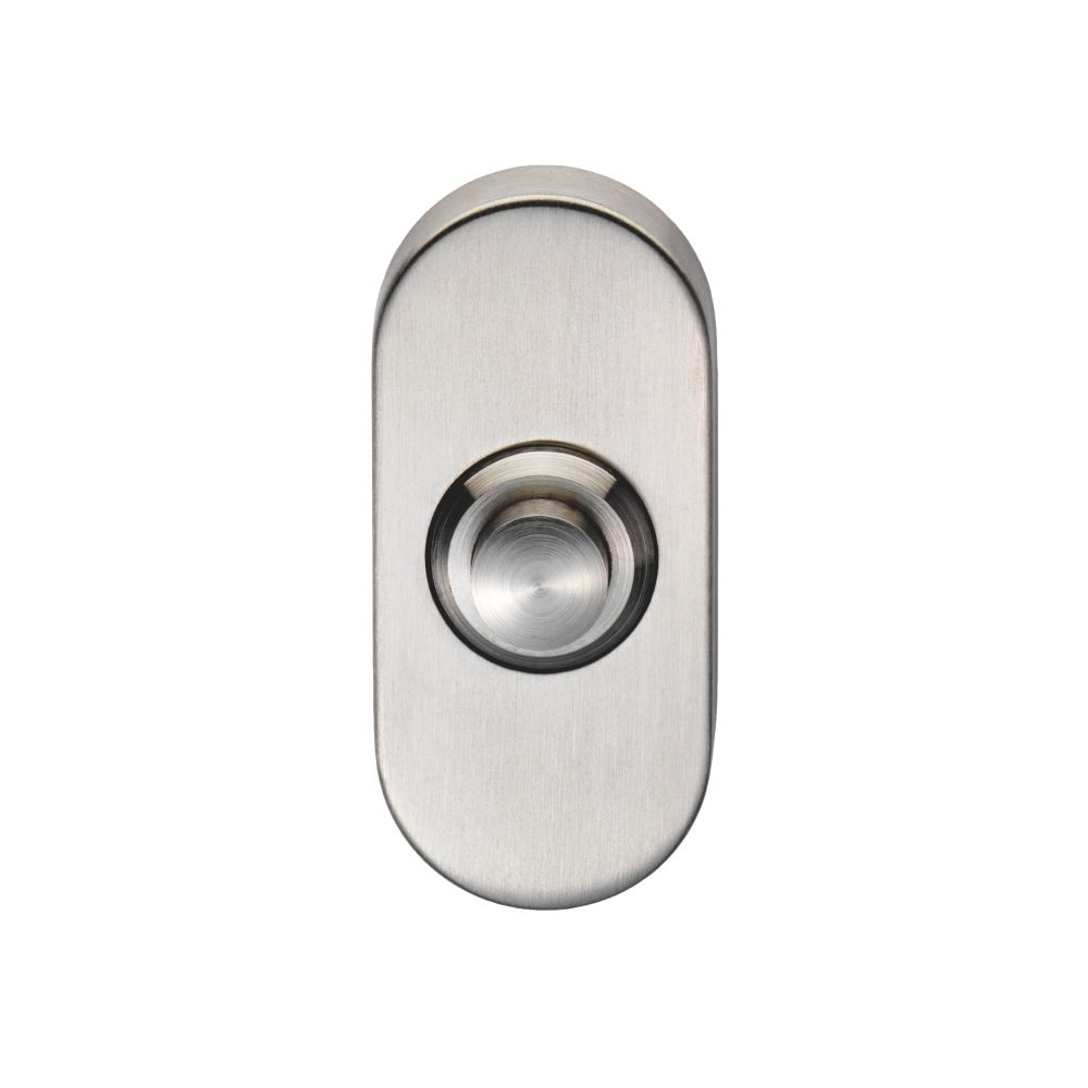 Image of Eurospec Bell Push Satin Stainless Steel 64 x 30mm