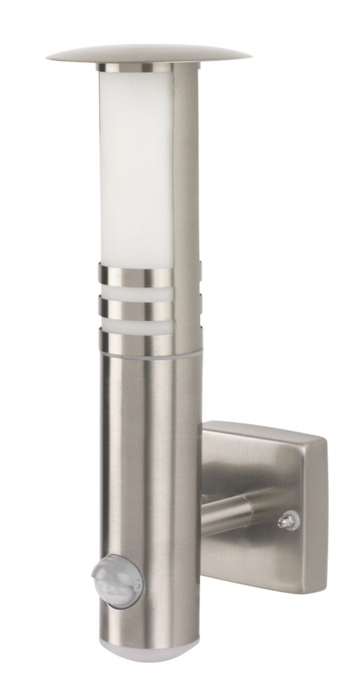 Image of Smartwares RVS70LED Outdoor LED Wall Light & PIR Stainless Steel 205lm 20W