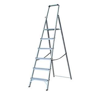 Lyte Platform Step Ladder Aluminium 6 Treads 1.89m