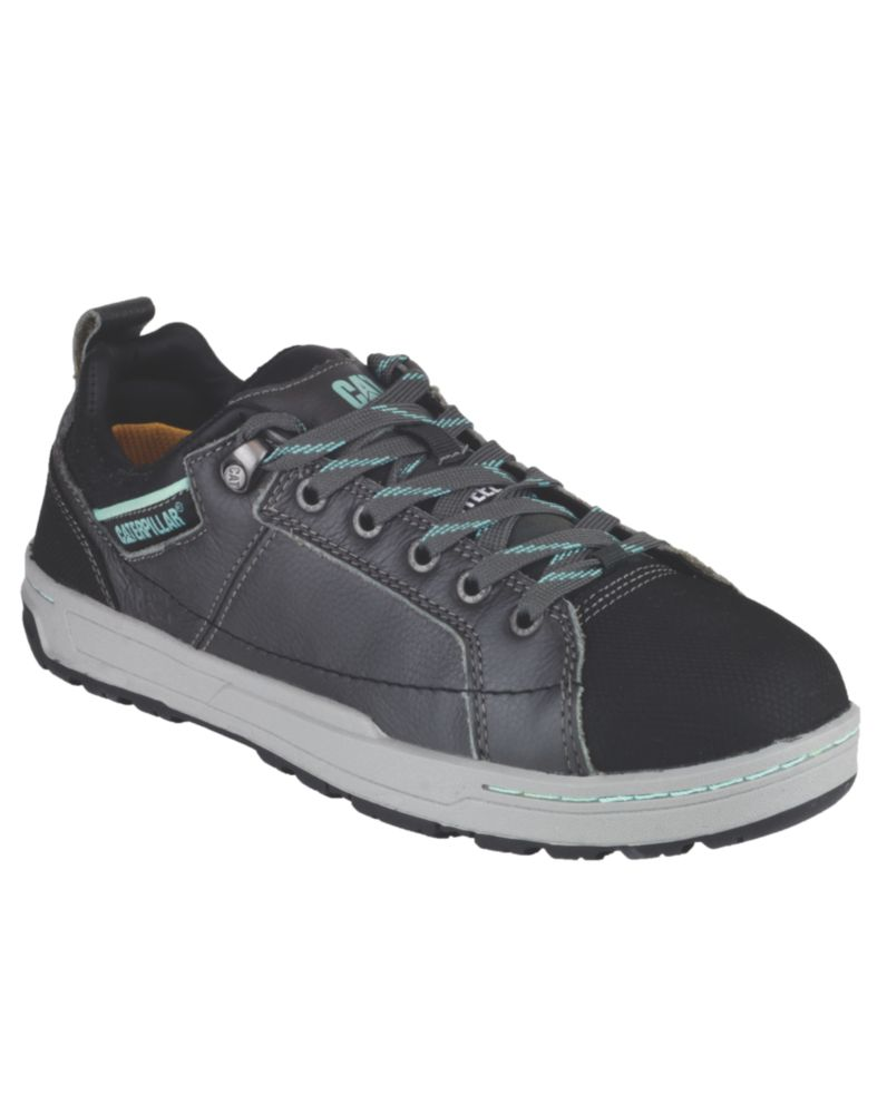 CAT Brode Ladies Safety Trainers Dark Grey / Mint Size 5