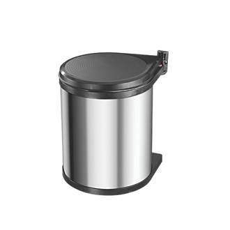Hailo Compact Inner Kitchen Waste Bin Stainless Steel 15Ltr