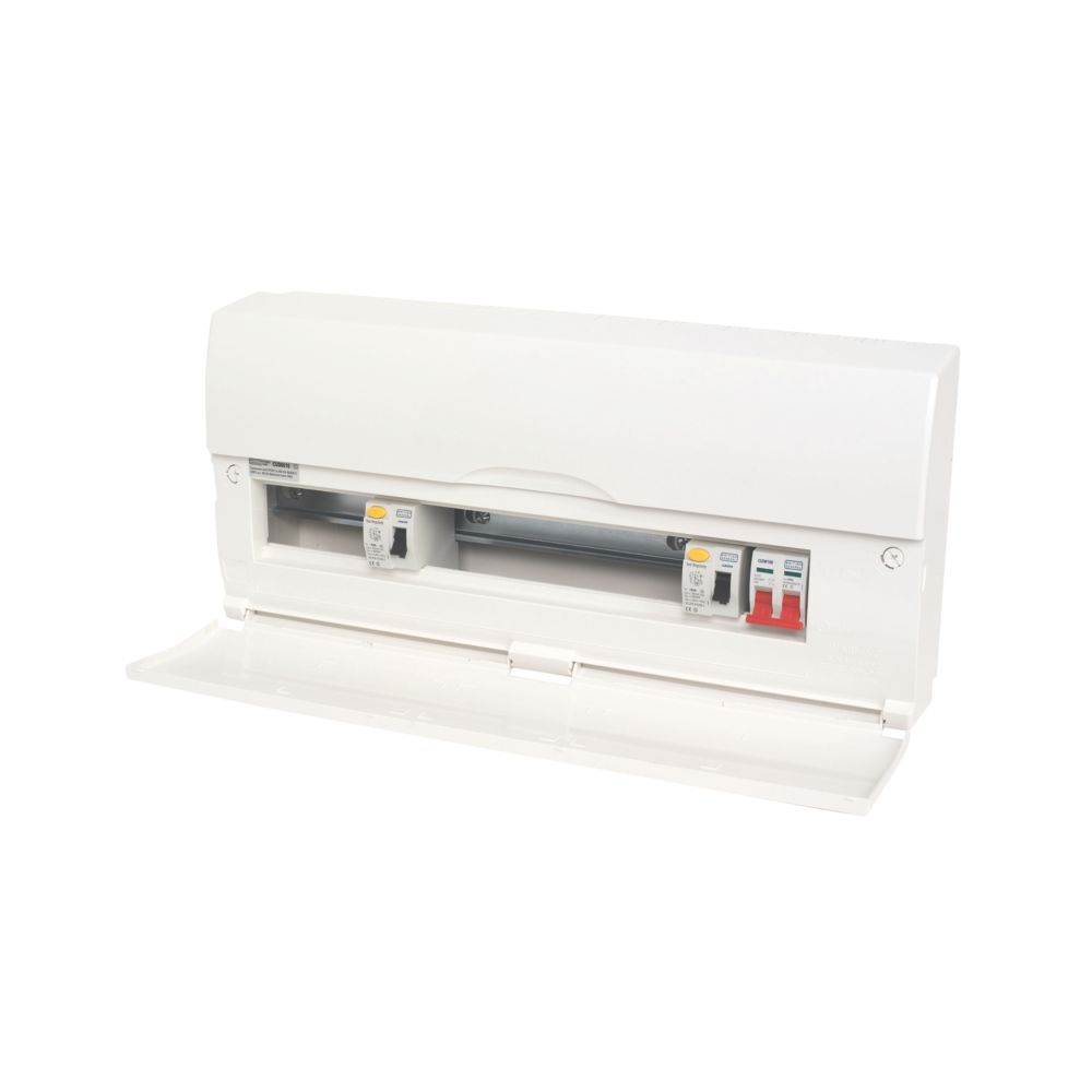 Image of 16-Way High Integrity Plastic Consumer Unit Dual 63A RCD & 100A Switch