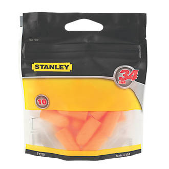 Stanley 34dB Disposable Foam Ear Plugs 10 Pairs