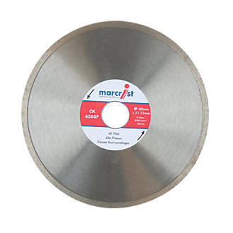 Marcrist CK650SF Diamond Tile Blade 180 x 22.2mm at Screwfix