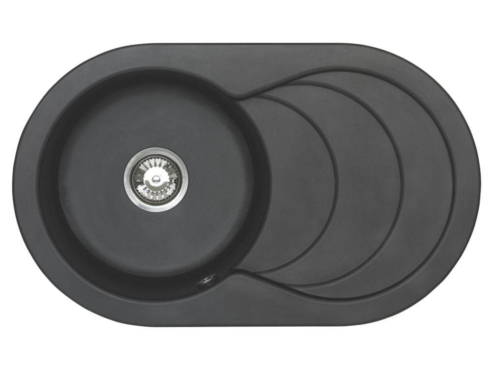 Astracast Kitchen Sink Italian Black 1-Bowl Reversible 790 x 480mm
