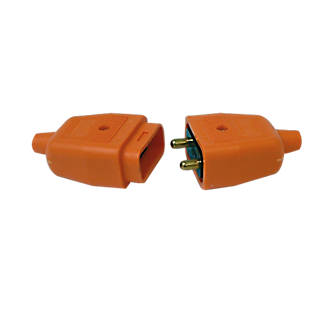 plugs fuses plug covers wiring accessories screwfix com masterplug orange connector 2 pin
