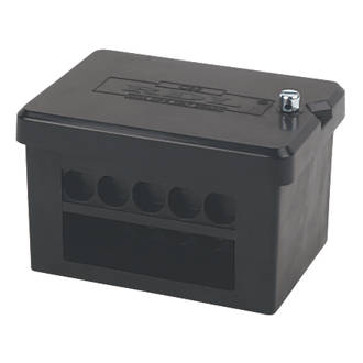 junction connector boxes wiring accessories screwfix com 2 x 5 way dp 100a service connector block 25mm²