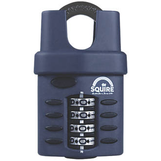 Squire Die-Cast Zinc All-Weather Combi Padlock Closed Shackle Black 40mm
