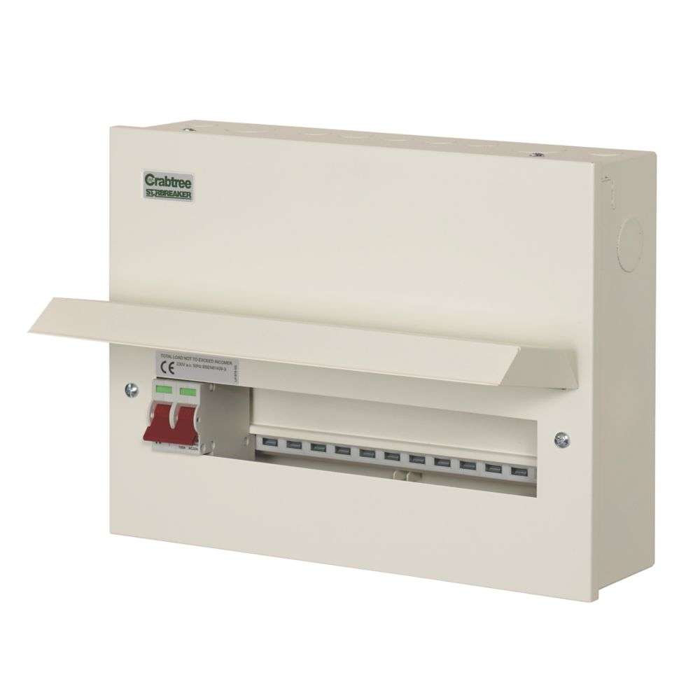 Crabtree Starbreaker 13-Way Metal Consumer Unit with 100A Main Switch