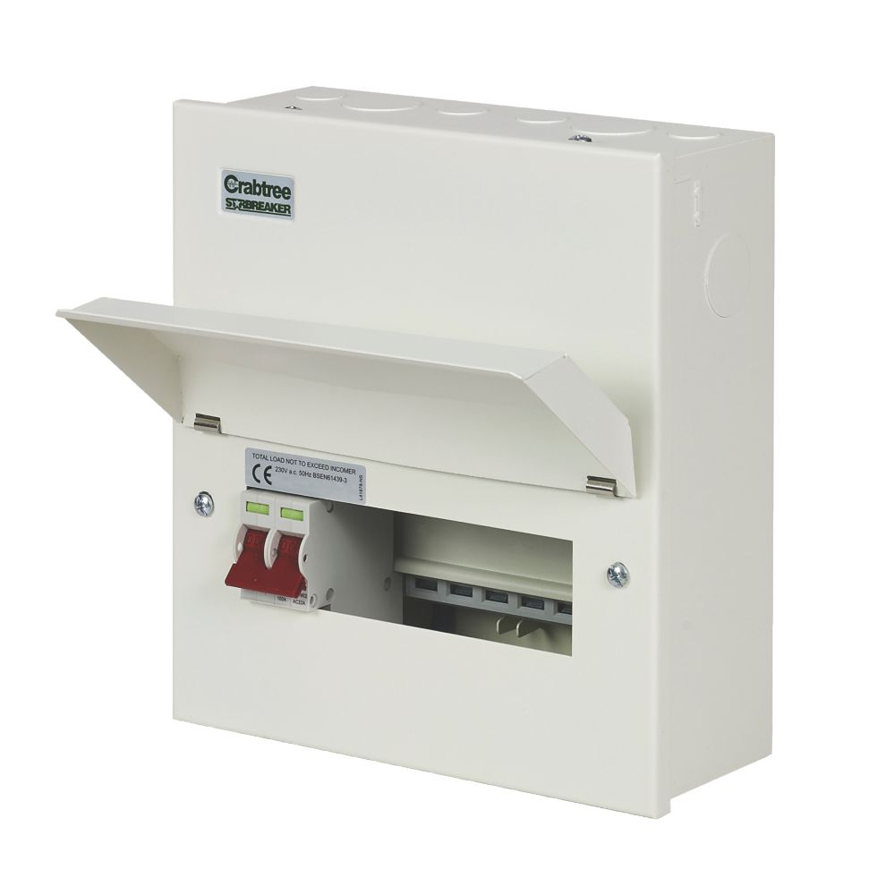 Crabtree Starbreaker 7-Way Metal Consumer Unit with 100A Main Switch