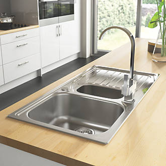Astracast Alto Kitchen Sink S/Steel 1½-Bowl 980 x 510mm