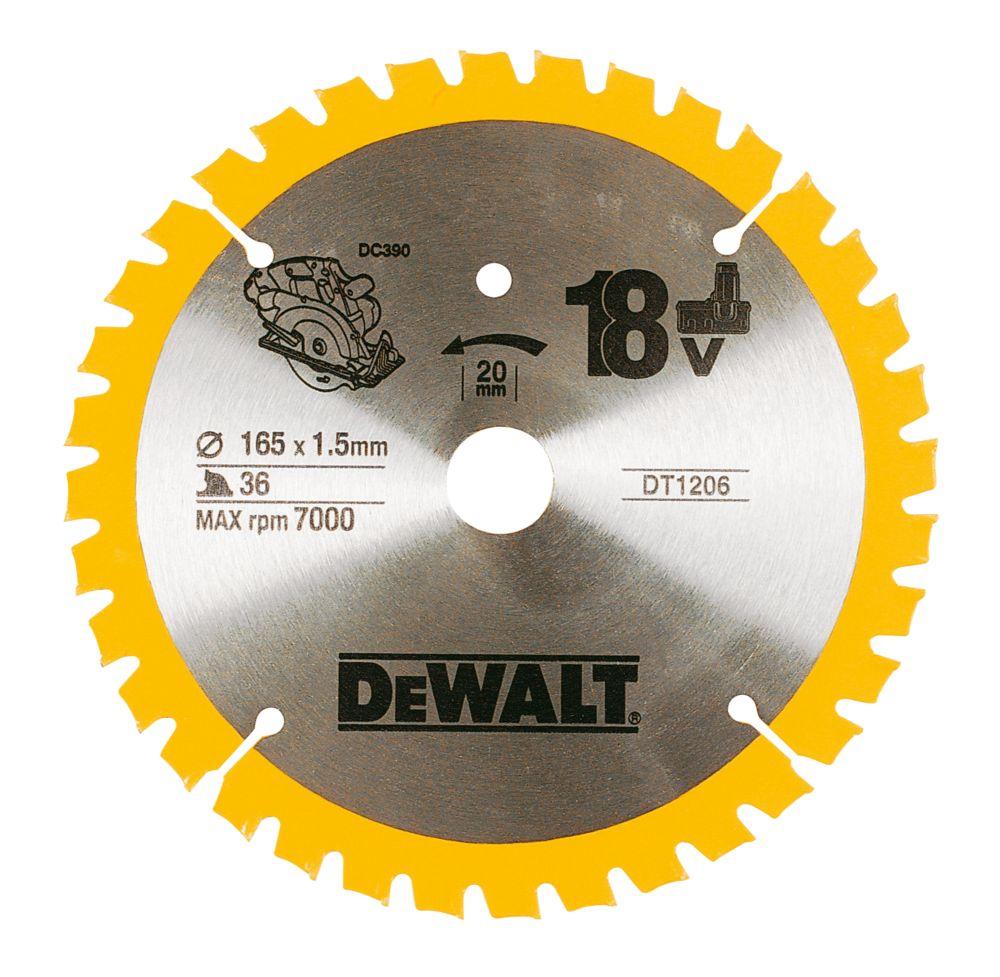 Dewalt 165x20mm 36T TCT Circular Saw Blade