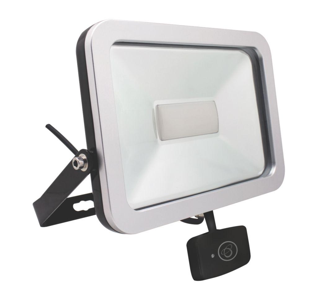 Brackenheath ispot Driverless LED Microwave Sensor Floodlight 30W Black