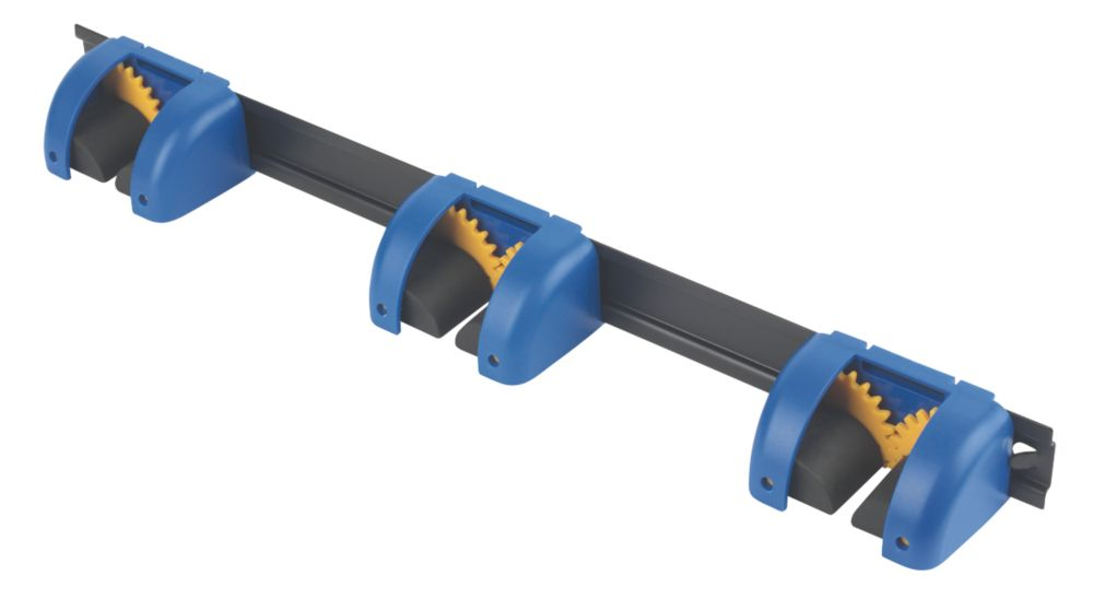Image of Smith & Locke 3 Tool Hanger Rail Black / Blue 48mm