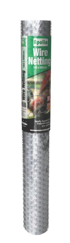 Apollo 13mm Galvanised Wire Netting 0.6 x 10m