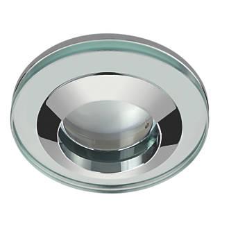 Screwfix Bathroom Lighting: Sensio Fixed Round Glass Shower Light Chrome 240V,Lighting