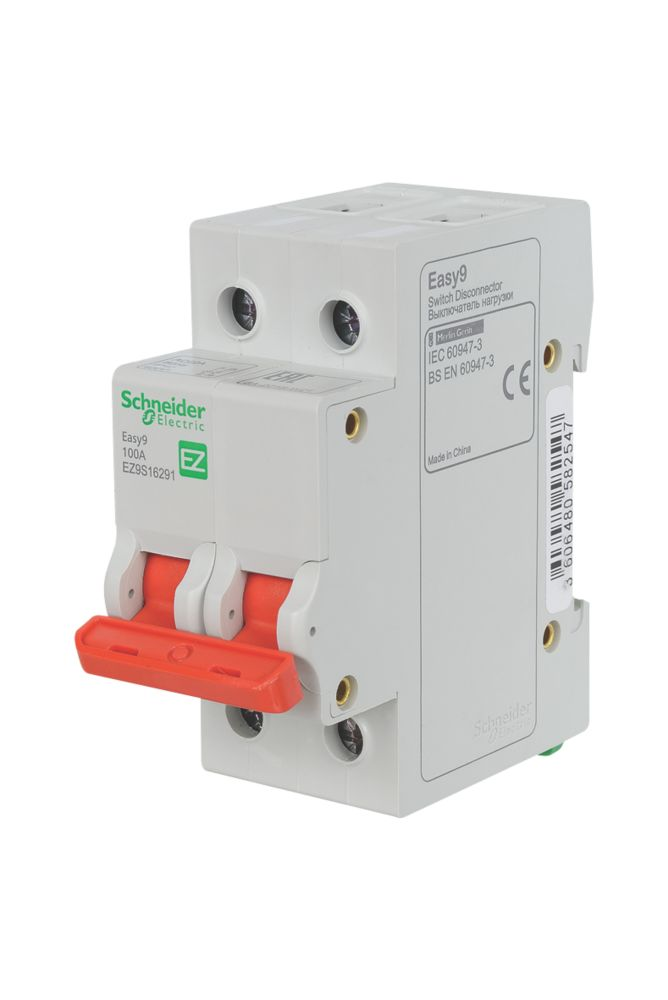 Image of Schneider Electric Easy9 100A 2G Double Pole Switch Disconnector