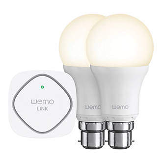 WeMo Wi-Fi LED Lighting Starter Set 9.5W BC