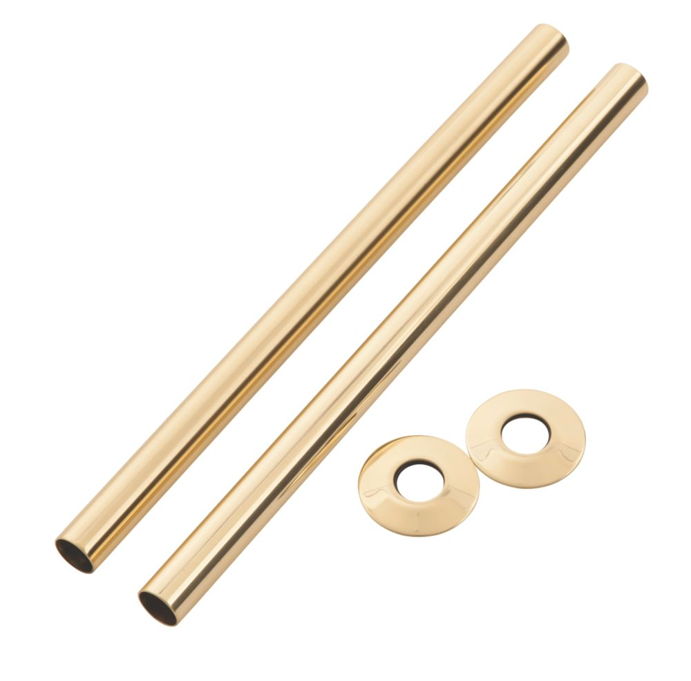 Arroll Pipe Shroud Kit Antique Brass 18 x 300mm 2 Pack