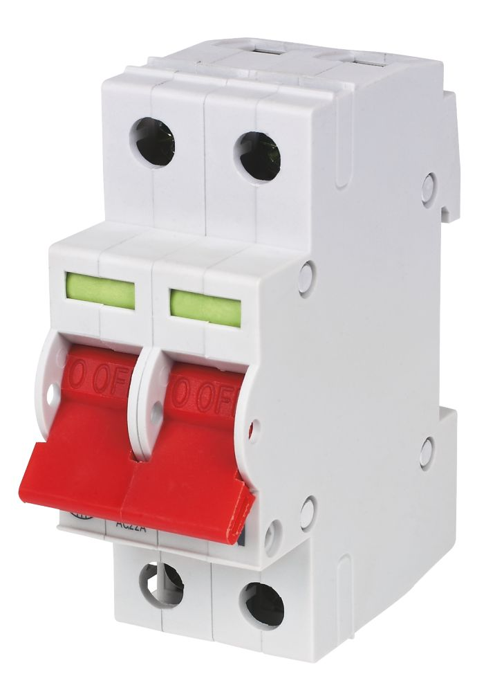 Image of Wylex 100A Double Pole 2 Module Isolator Switch