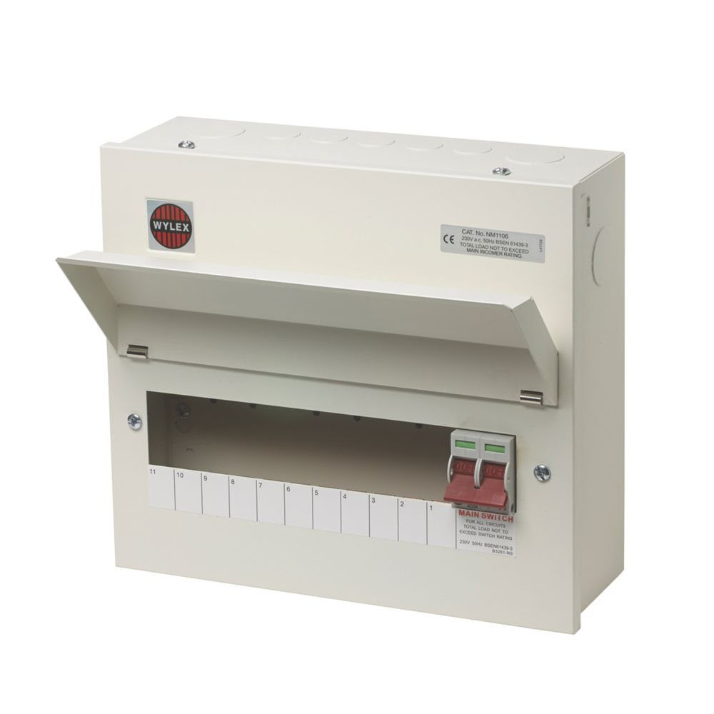 Image of Wylex 100A 11-Way Metal Consumer Unit