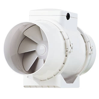 Xpelair XIMX100 33W In Line Mixed Flow Extractor Fan. Vent Axia ACM100T 21W In Line Bathroom Extractor Fan   Bathroom