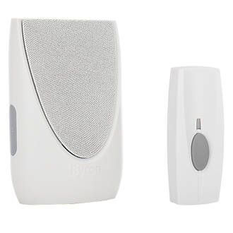Wireless BY201 Portable Door Chime with Li-Ion Powered Bell Push.
