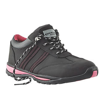 Amblers FS47 Ladies Safety Trainers Black Size 6.