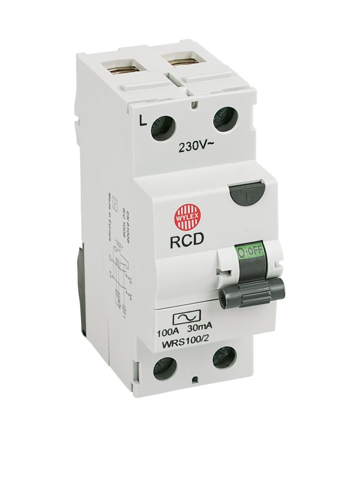 Image of WYLEX 100A 30mA DP RCD