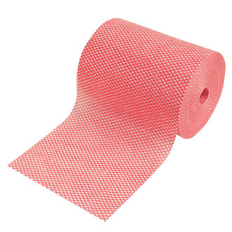 Semi-Disposable Cleaning Cloths Red 2 Pack.