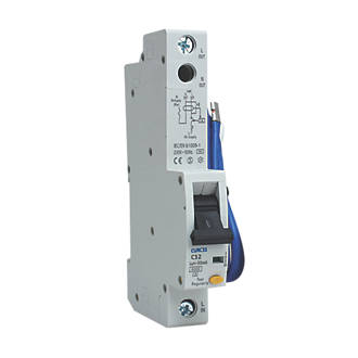 BG 32A 30mA Single Pole Type C RCBO