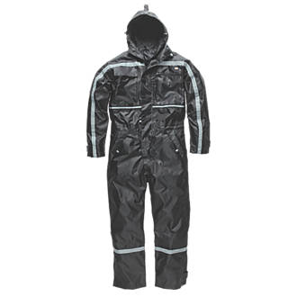 "Dickies Dartmouth Waterproof Coverall Black Medium 40-42"" Chest 30"" L."