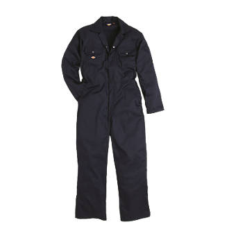 "Dickies Economy Stud Front Coverall Navy Large 44-46"" Chest 30"" L."