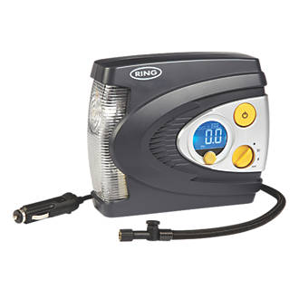 Ring Digital Air Compressor & Light 12V