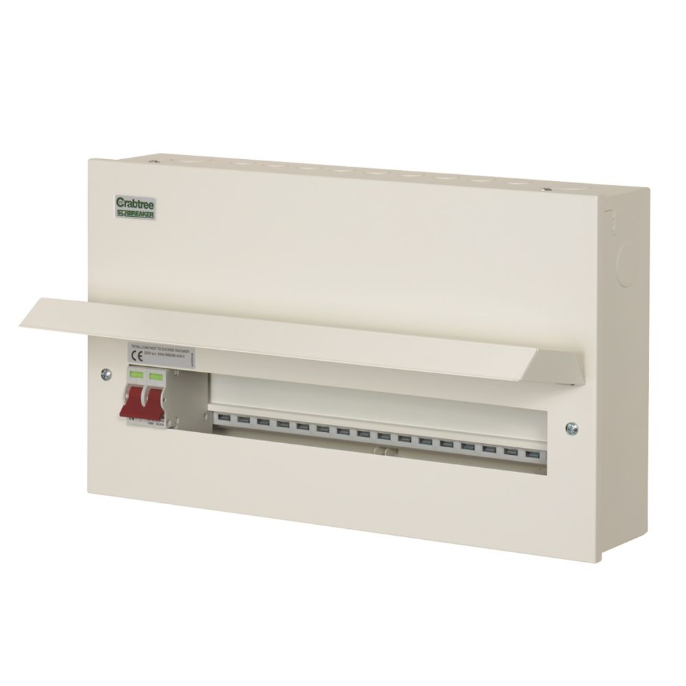 Crabtree Starbreaker 18-Way Metal Consumer Unit with 100A Main Switch