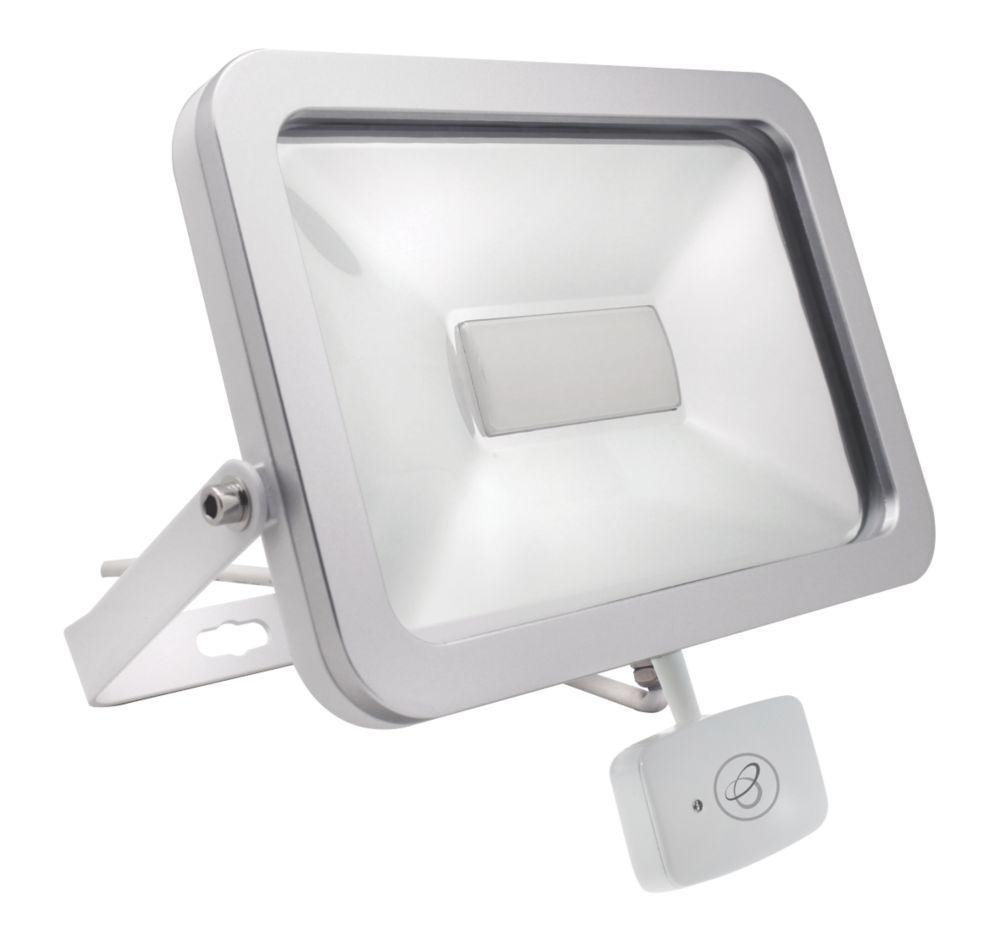Brackenheath ispot Driverless LED Microwave Sensor Floodlight 30W White