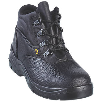 Site Slate Chukka Safety Boots Black Size 9.