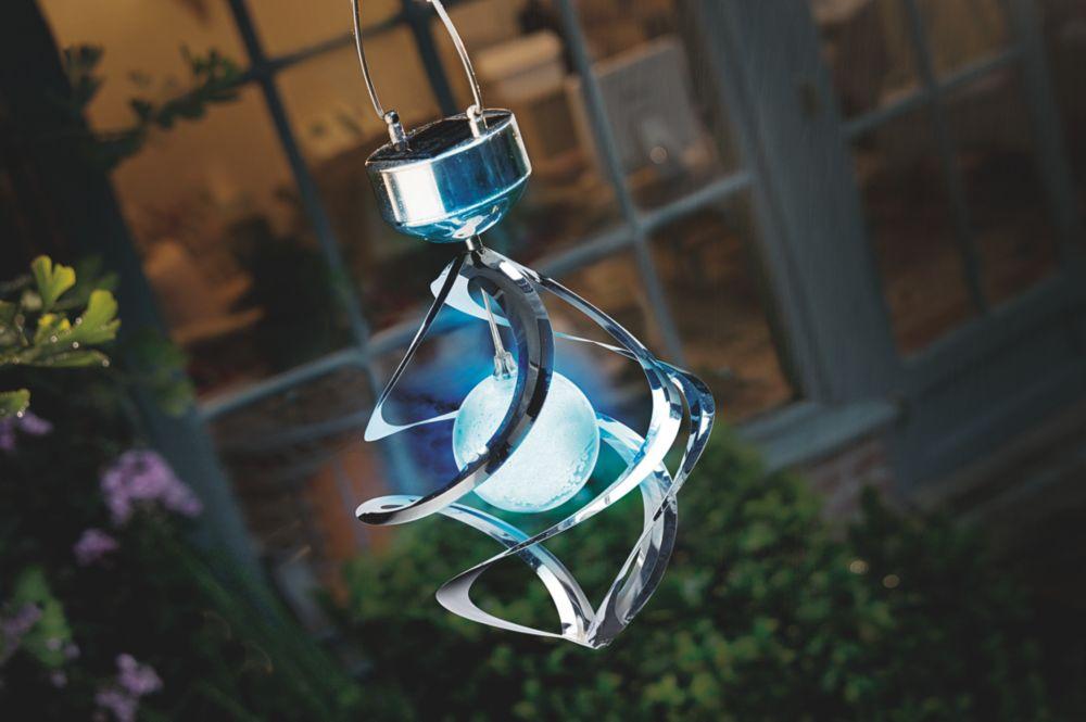 Image of Cole & Bright Gardman Solar Wind-Spinner Light Stainless Steel