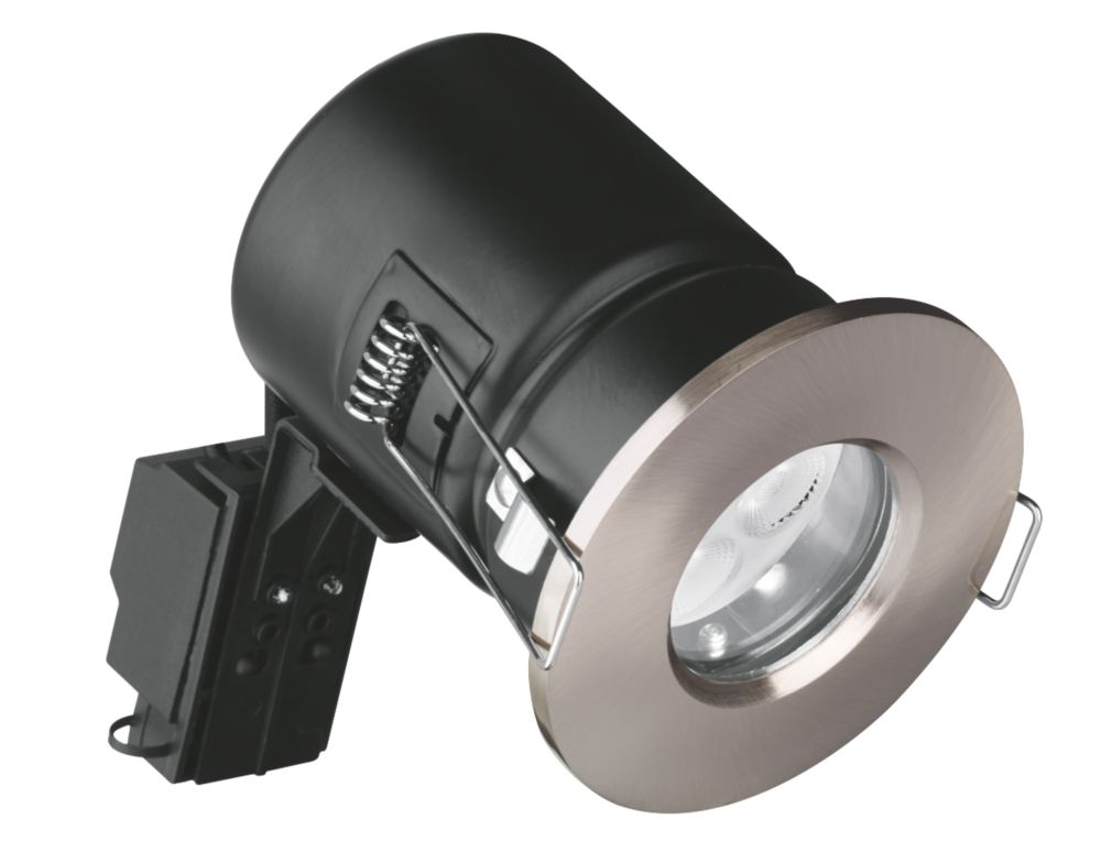Aurora Fire Rated Fixed LED Downlight IP65 Satin Nickel 35W
