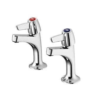Armitage Shanks Sandringham 21 High Neck Pillar Lever Taps