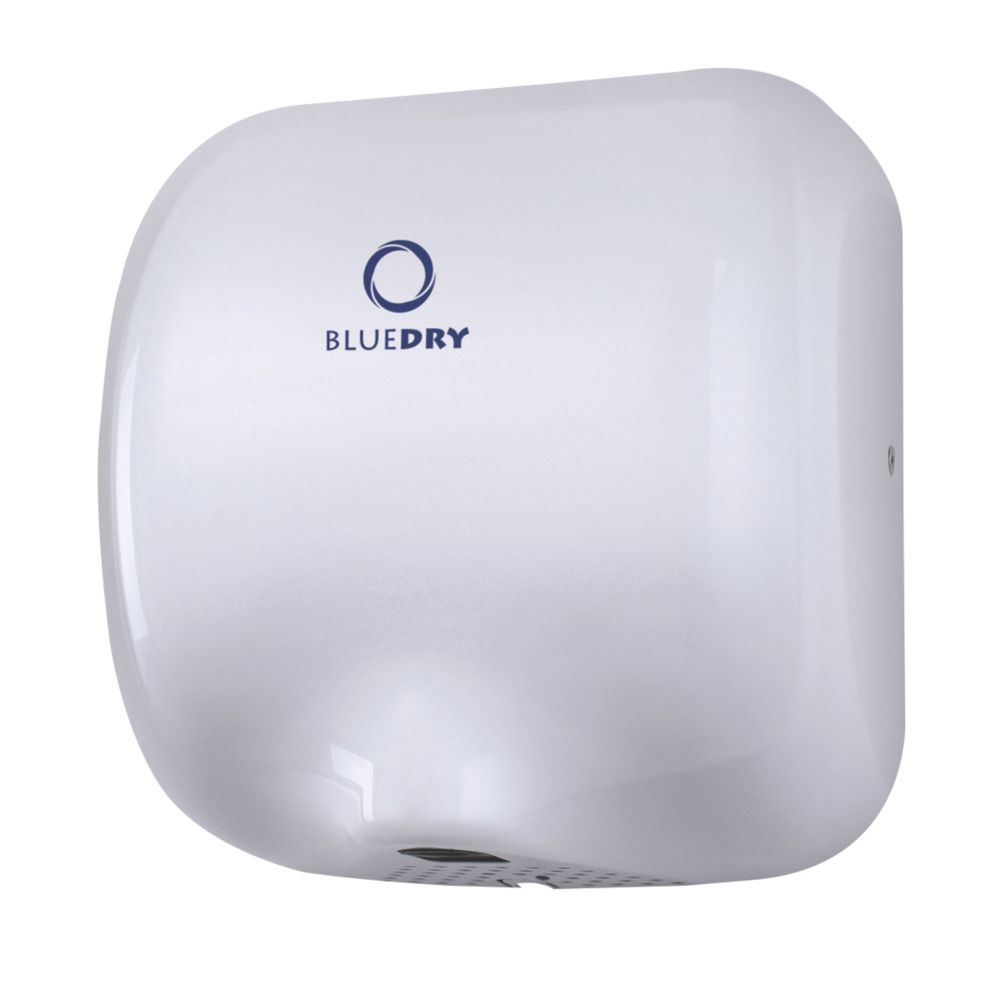 BlueDry Eco Dry High Speed Hand Dryer White 0.55-1.8kW